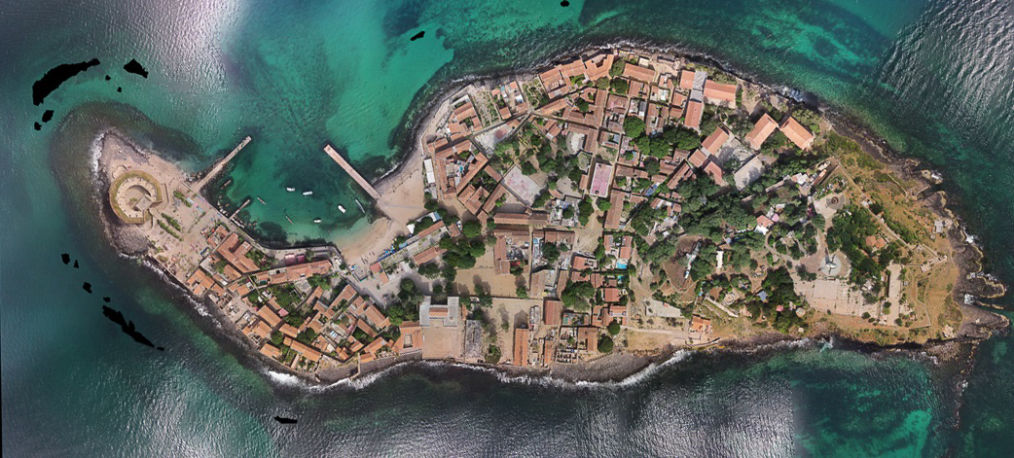 Orthophoto of Ile de Goree, Senegal